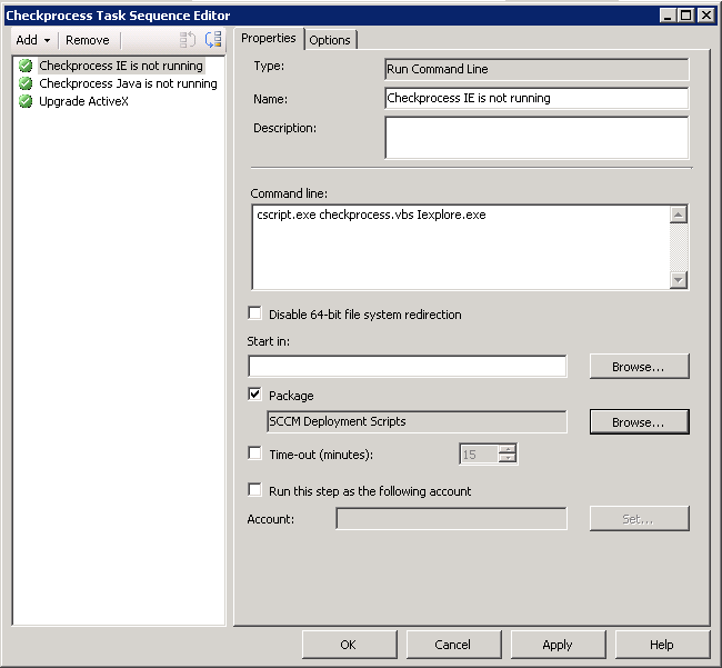 Fail a task sequence or program if a process is running – CCMEXEC