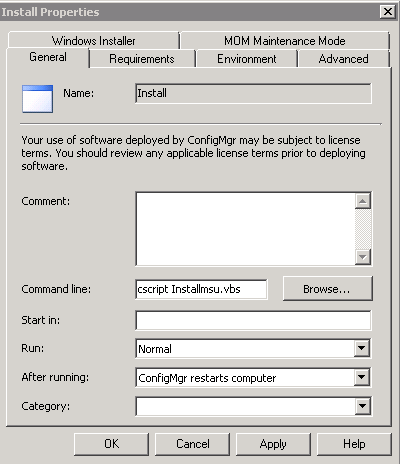Installing multiple Windows 7 hotfixes( msu) with SCCM