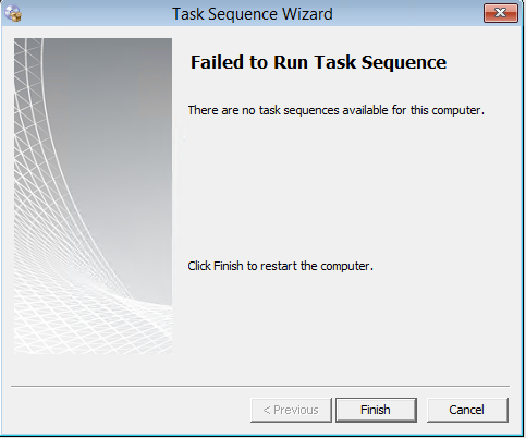 No Task Sequence