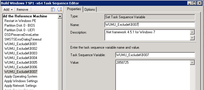 Exclude .net framework 4.5.1