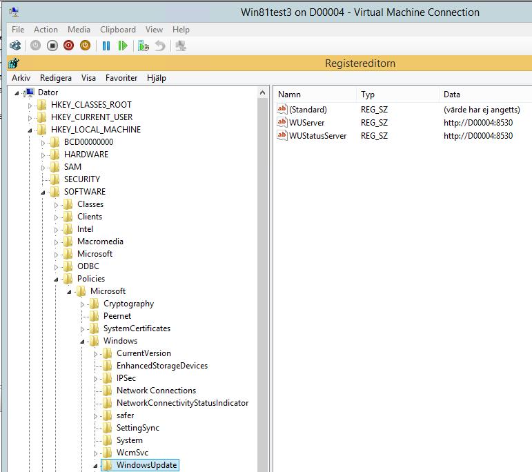 Cleanup registry from WSUS server, ZTIWindowsupdate wsf