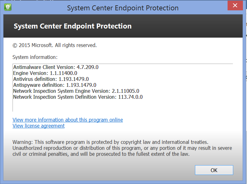 SC Endpoint Protection client version 4 7 209 0 is released