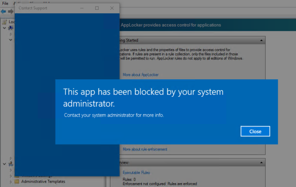 Blocking built-in apps in Windows 10 using Applocker