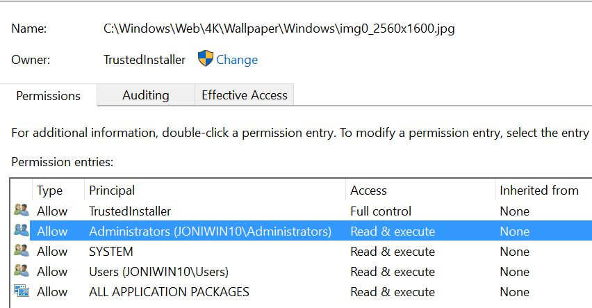 Replacing default wallpaper in Windows 10 using Script/MDT