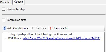 Enable App-V and UE-V during OSD in Windows 10 1607