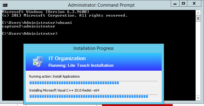 Context difference between a Task Sequence in MDT and SCCM