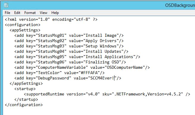 Configuration Manager OSDBackground – CCMEXEC COM