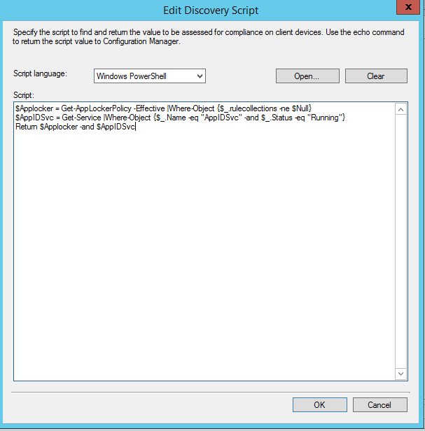 ConfigMgr CI to check Applocker is configured and running