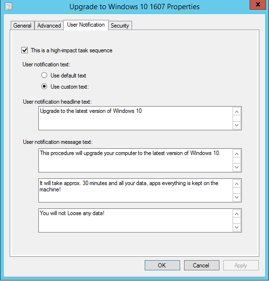Task Sequence customizable 21