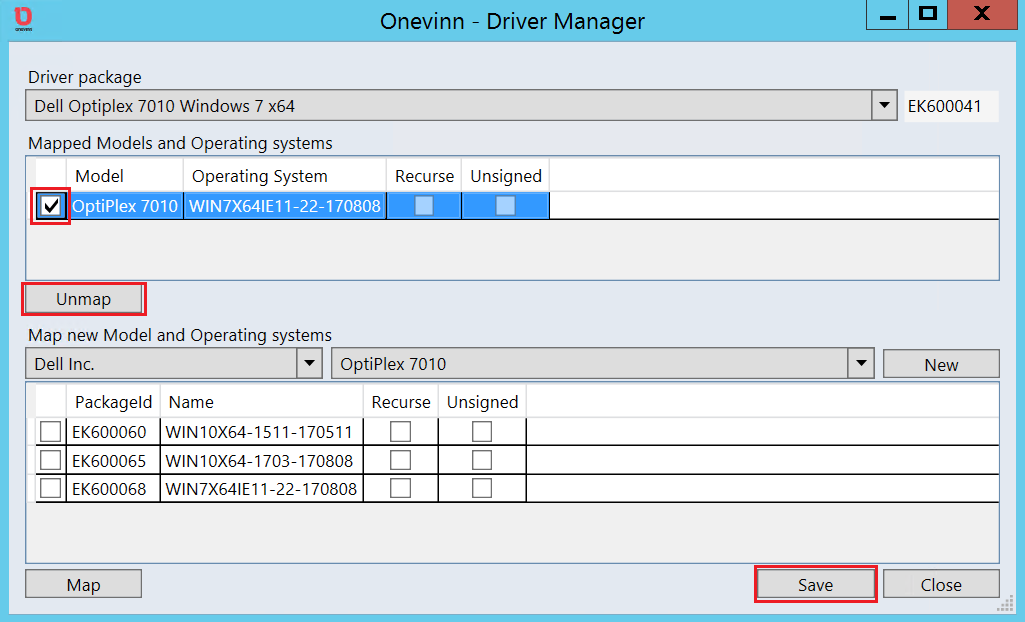 Apply native Driver packages dynamically using Driver