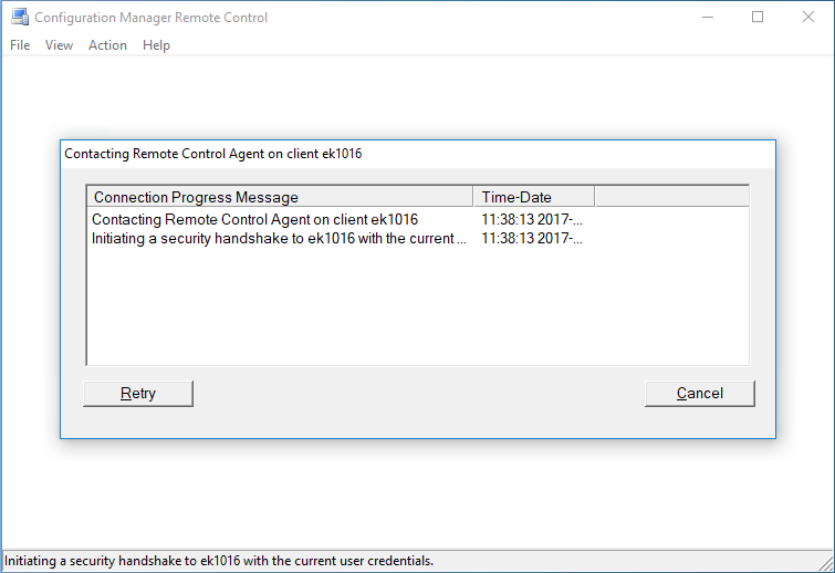 "SCCM remote control and the ""Access this computer from the"