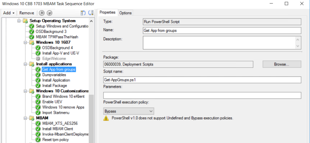 Installing applications and packages dynamically during OSD