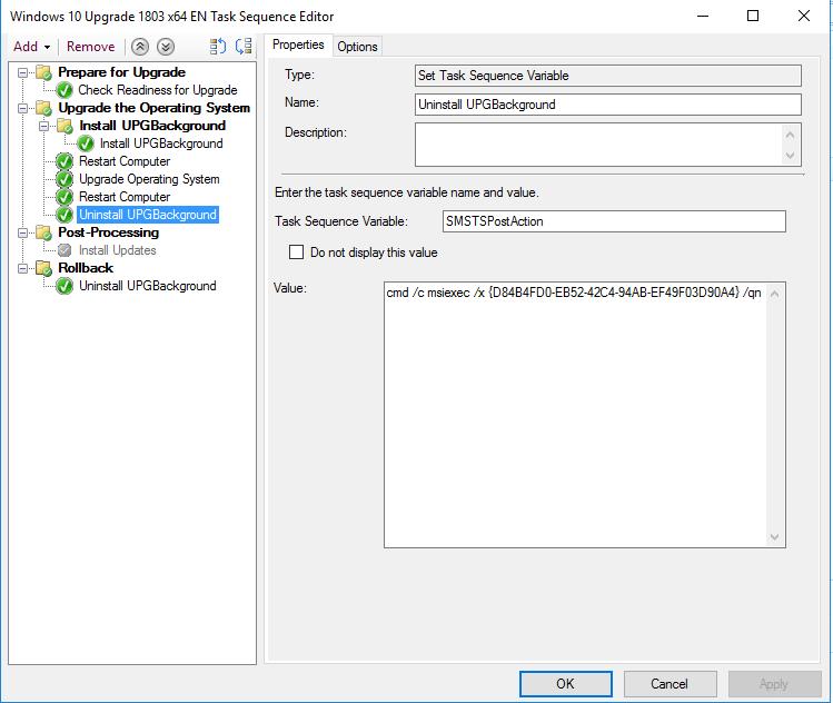 Onevinn Windows 10 Upgrade tools – UPGBackground – CCMEXEC