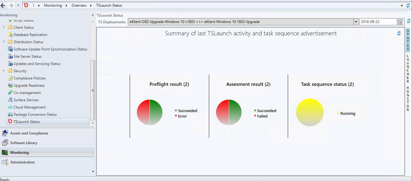 Windows 10 upgrade assessment using Onevinn TSLaunch