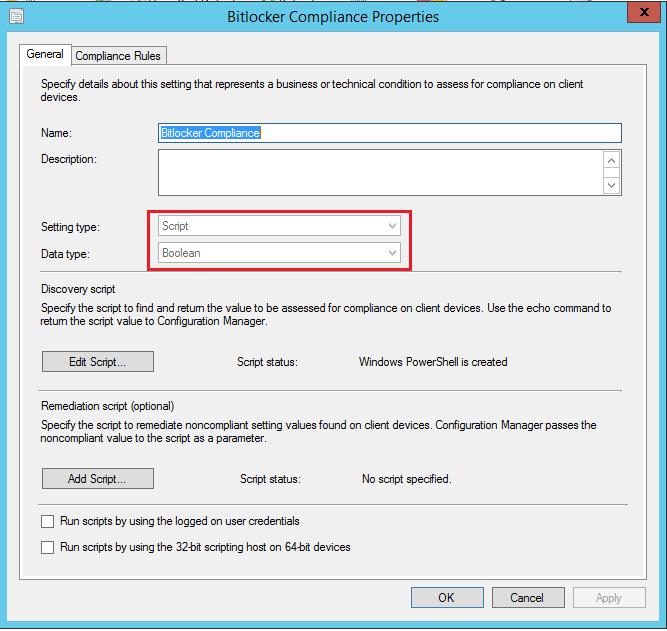 Bitlocker Compliance using SCCM including Hardware encryption check