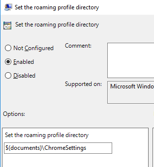 Roam Chrome Settings with Onedrive4B with Intune or GPO