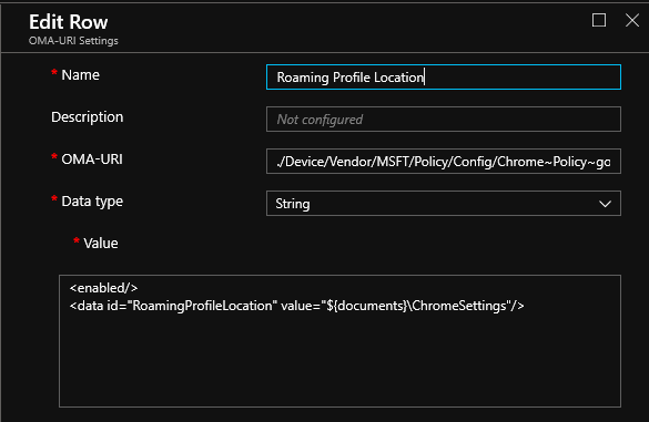 Roam Chrome Settings with Onedrive4B with Intune or GPO - Onevinn