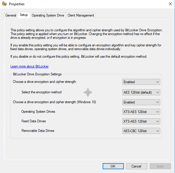 SCCM integrated MBAM services in Technical Preview 1908 2